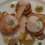 Pan-fried scallops from Isle of Mull