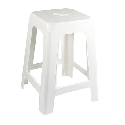 stackable white stool