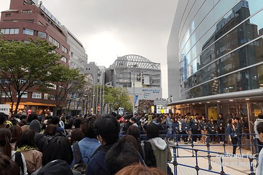Crowd outside Yokohama Arena for ONE OK ROCK