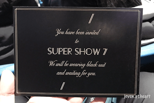 Super Show 7 invitation