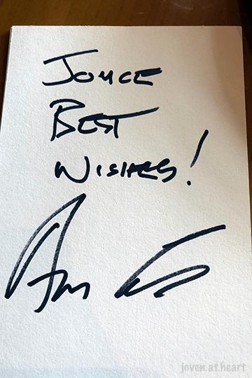 Anderson Cooper's autograph