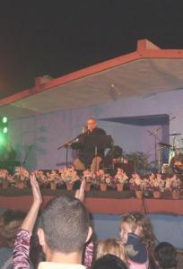 Paulo Milanes en el concierto en Matanzas enero del 2011