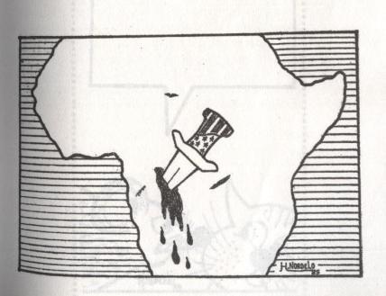 Africa con un puñal clavado