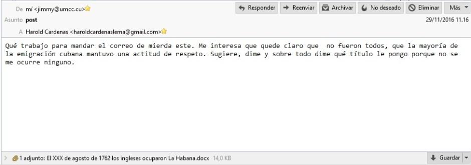Intercambio de correos sobre artículos de LJC