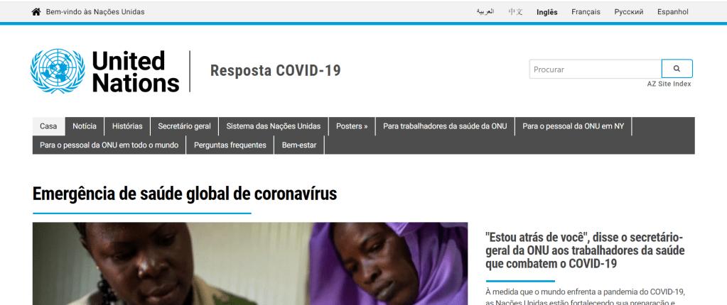 como encontrar sites oficiais confiáveis coronavírus