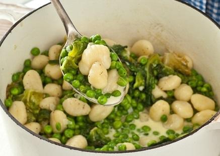 gnocchi and peas