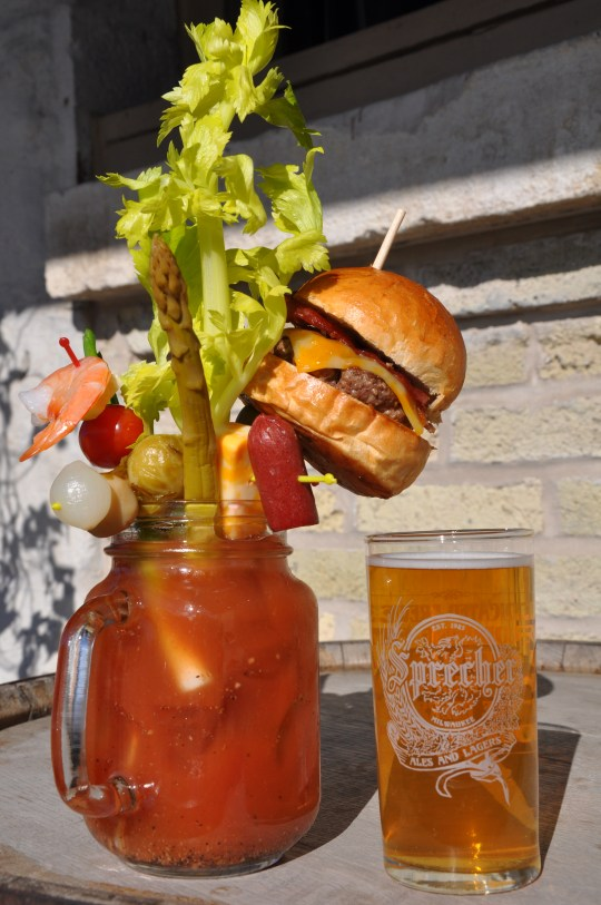 Milwaukee's outrageous Bloody Mary with a mini cheeseburger is definitely not boring Sobelman's Pub & Grill photo