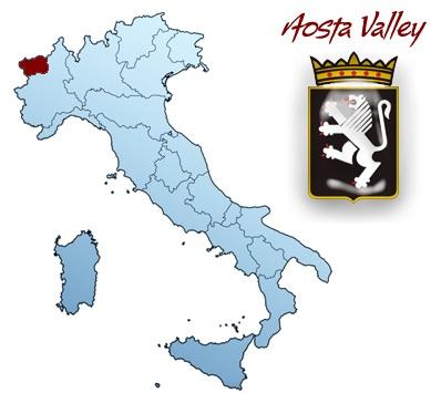 region Aosta map