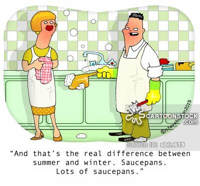 """""""And that's the real difference between summer and winter. Saucepans. Lots of saucepans."""""""