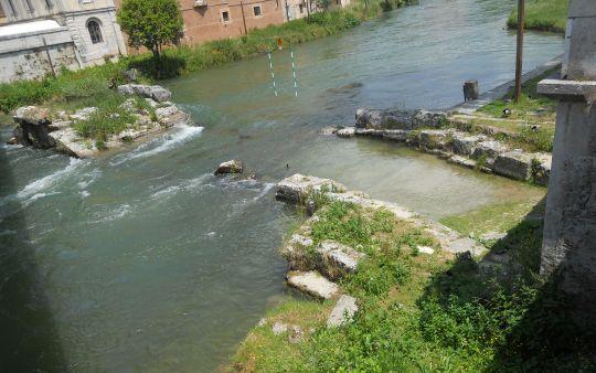 Remains of the Roman Bridge (3rd century BC)