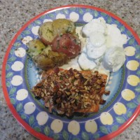 Pecan Crusted Salmon For Dinner