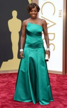 Viola Davis in Emerald Escada