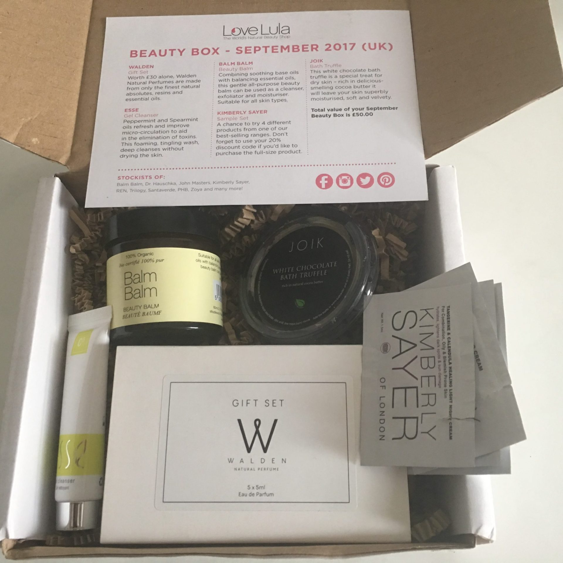 LoveLula Beauty Box - September 2017