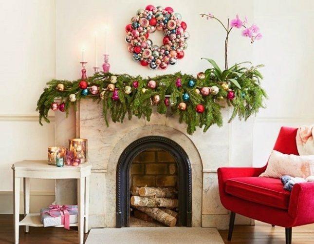 如何在没有圣诞树的情况下装饰到新的一年的房间