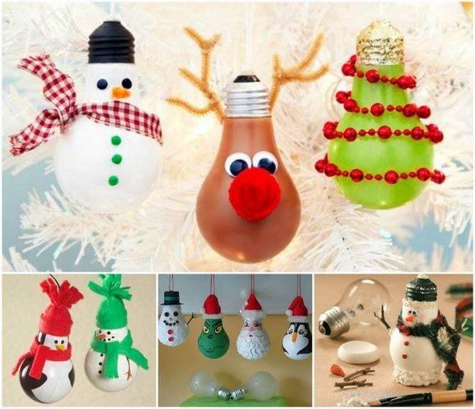 Leksak på julgran från glödlamporna