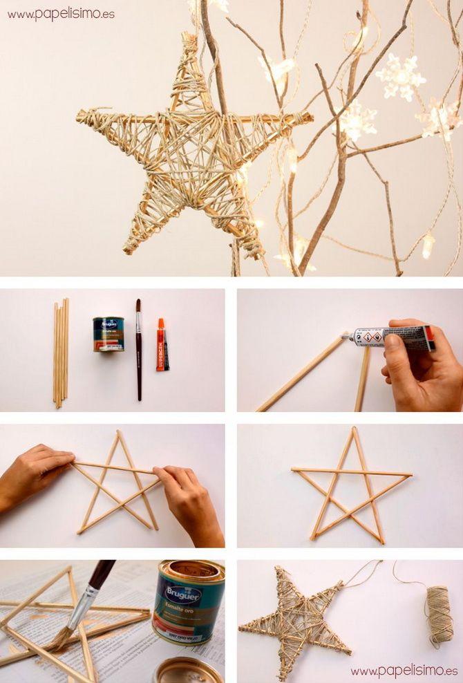 Uudenvuoden lelut tähdet tekevät sen itse