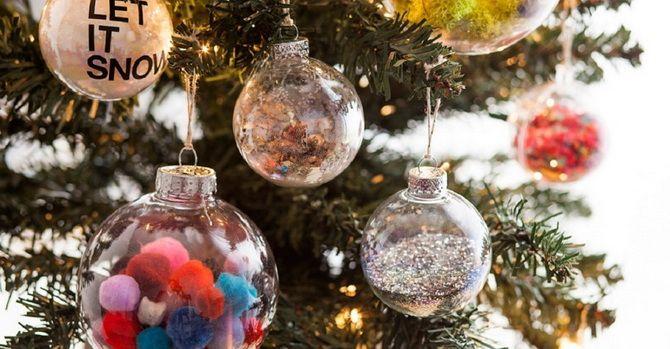 Рождестволық ойыншықтар шыршадағы өз қолымен