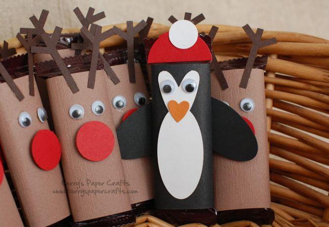 Pingviner julpapper dekorationer