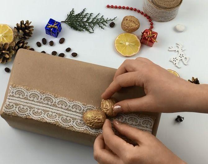 Emballage en gave med dine egne hænder