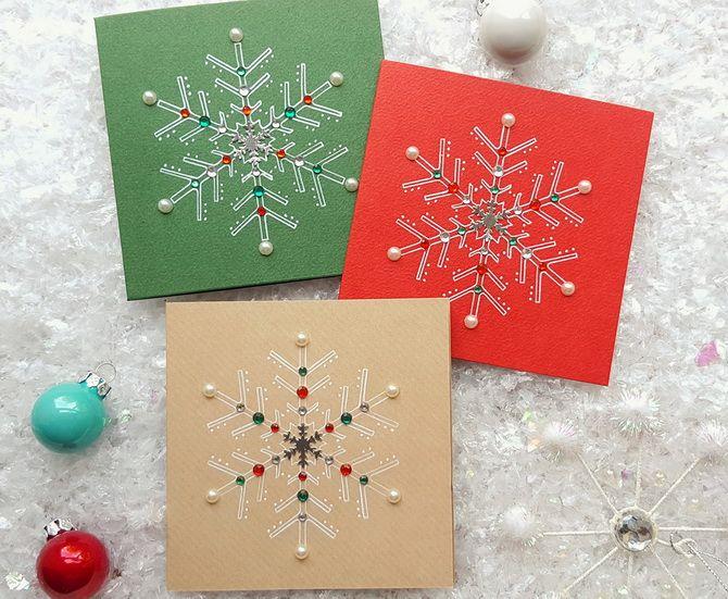 Создаем новогодние открытки своими руками: простые мастер-классы 23