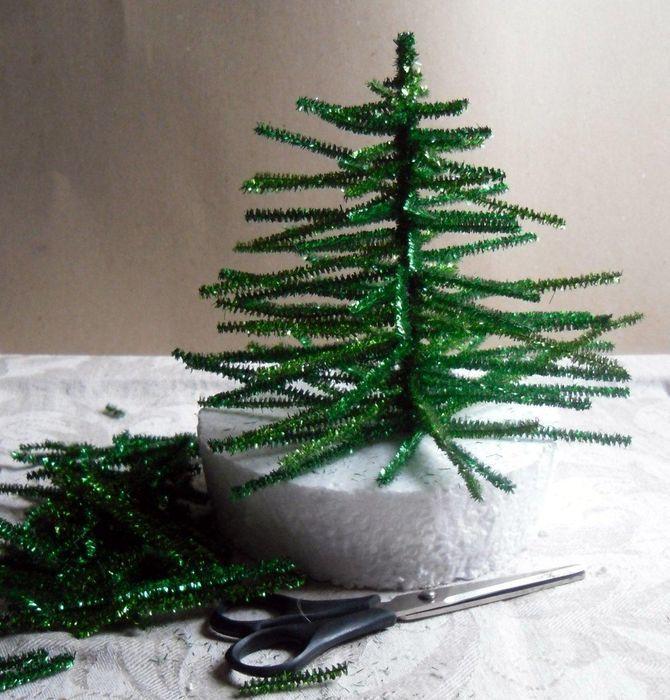 Sådan laver du et stort juletræ med dine egne hænder: ideer og mesterklasser 5