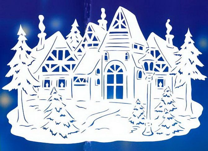 Новогодний домик – поделка своими руками 2