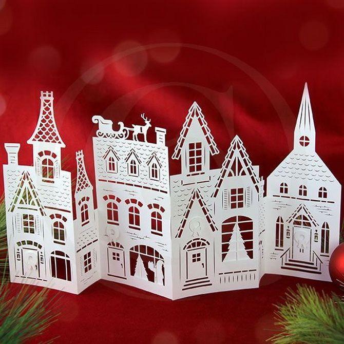 Novoroční dům - řemesla s vlastními rukama 14