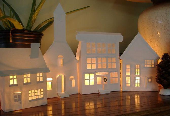 Novoroční dům - řemeslo s vlastními rukama 18