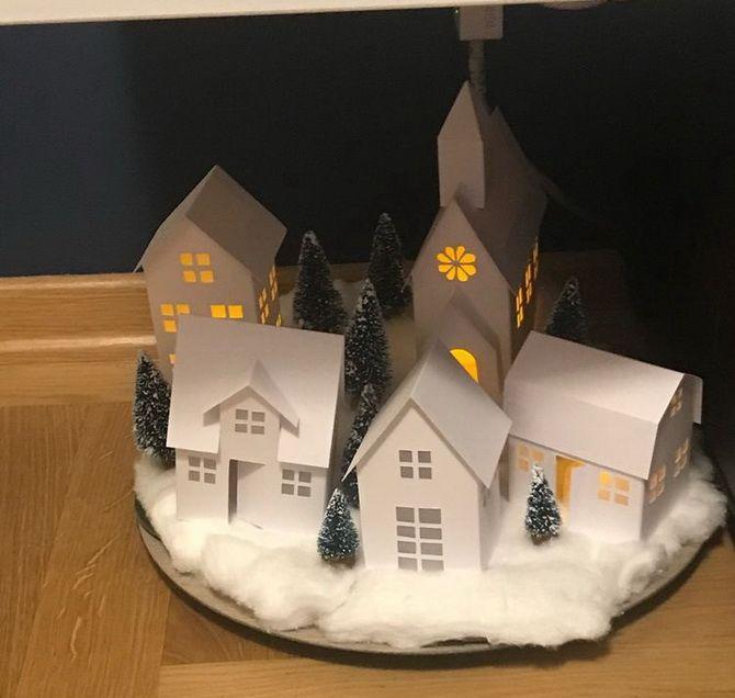 Novoroční dům - řemesla s vlastními rukama 20