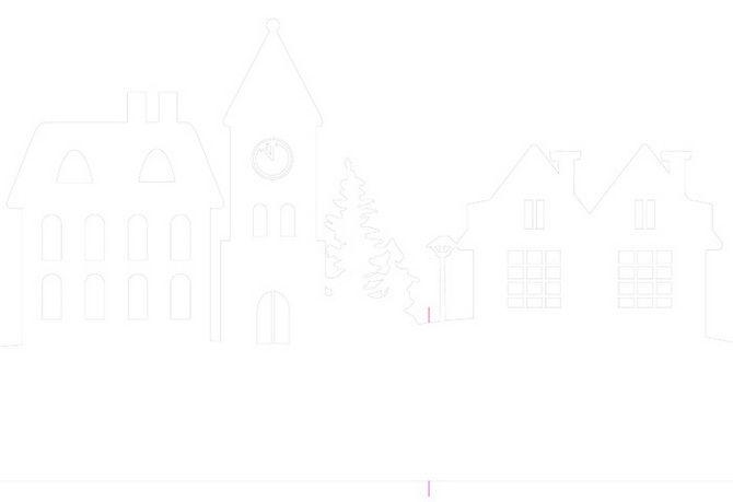 Новогодний домик – поделка своими руками 7