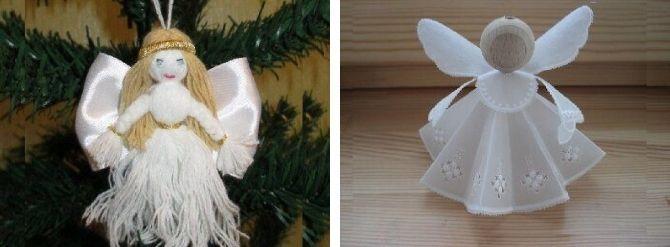 새해 천사의 천사들은 자신과 비디오에서 간단한 마스터 클래스, Joy-Pup에서 아이디어를 선택합니다.