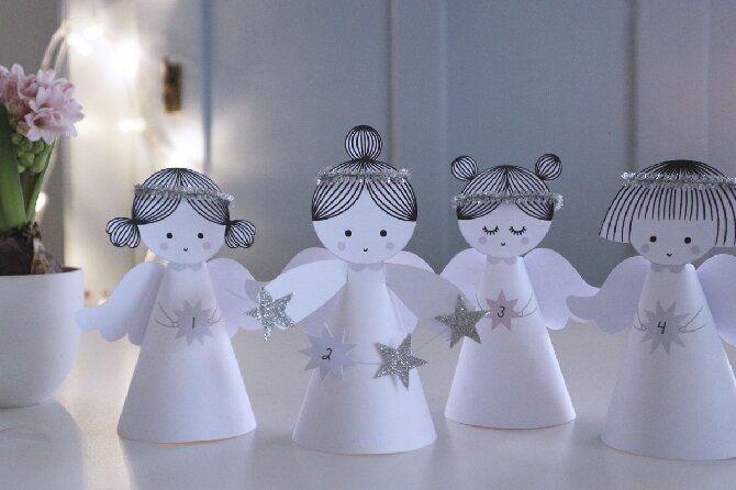 Новогодние ангелочки своими руками: простые мастер-классы на фото и видео, подборка идей от Joy-pup 13