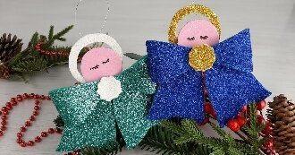 Новогодние ангелочки своими руками: простые мастер-классы на фото и видео, подборка идей от Joy-pup 18