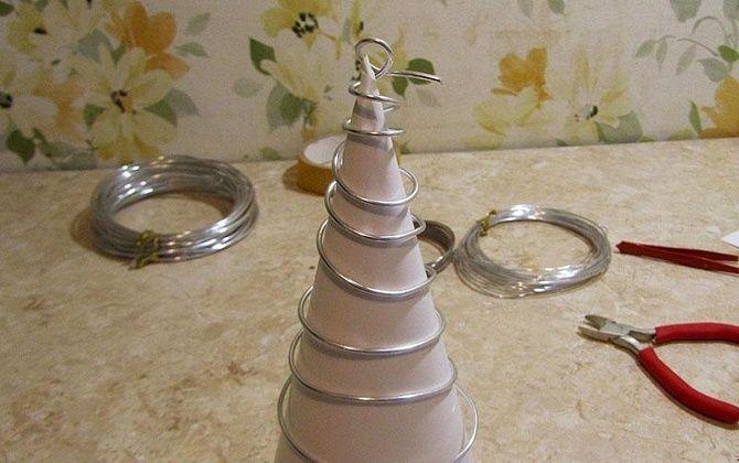 Cum să faci un copac de Crăciun de Anul Nou din sârmă de cinema, Foto № 32