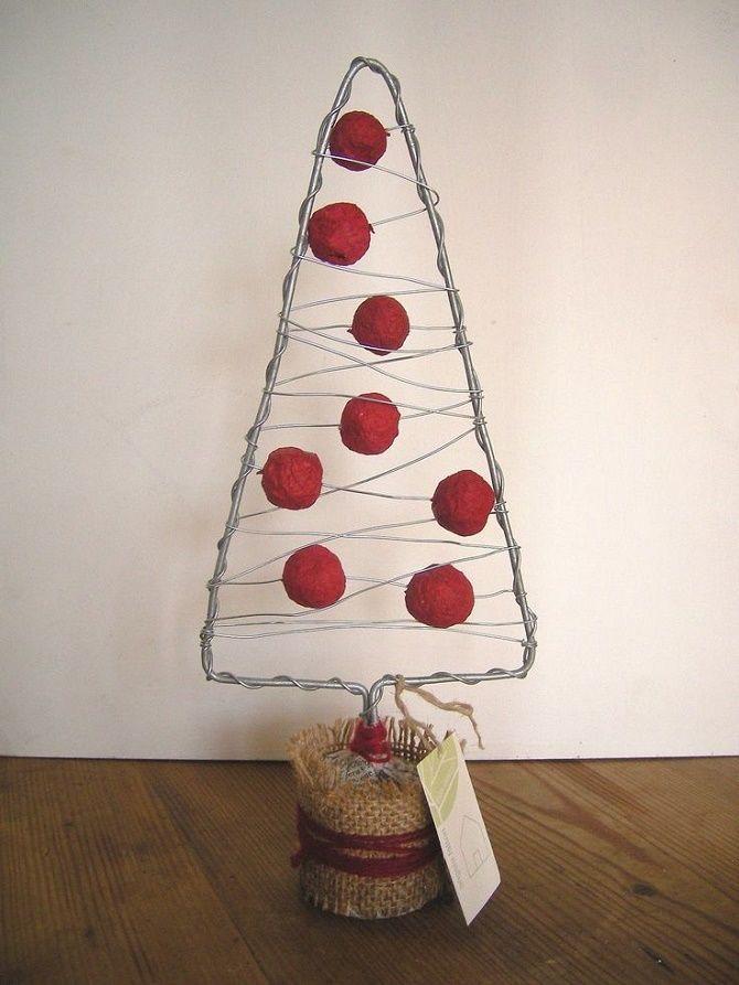 Cum să faci un copac de Crăciun de sârmă neobișnuit pentru Anul Nou 2021: idei cool cu fotografie 6