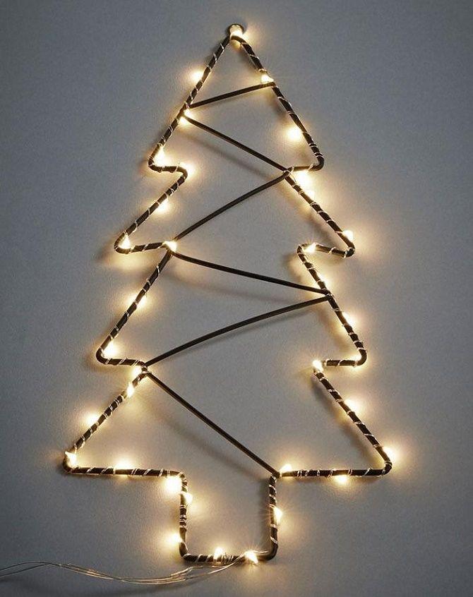 Cum de a face un copac de Crăciun de sârmă neobișnuit pentru Anul Nou 2021: idei cool cu fotografie 4
