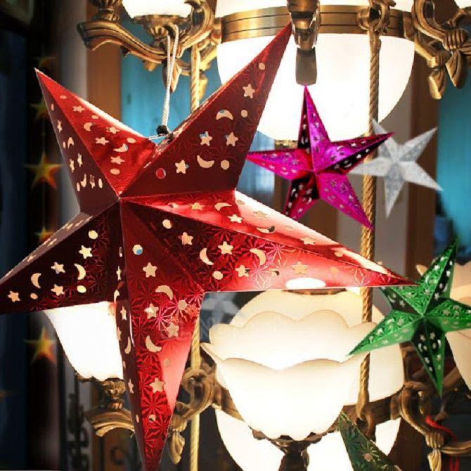 Әдемі және ерекше Рождестволық ойыншықтар қағаздан жасалған ойыншықтар - өз қолыңызбен қалай жасау керек 1