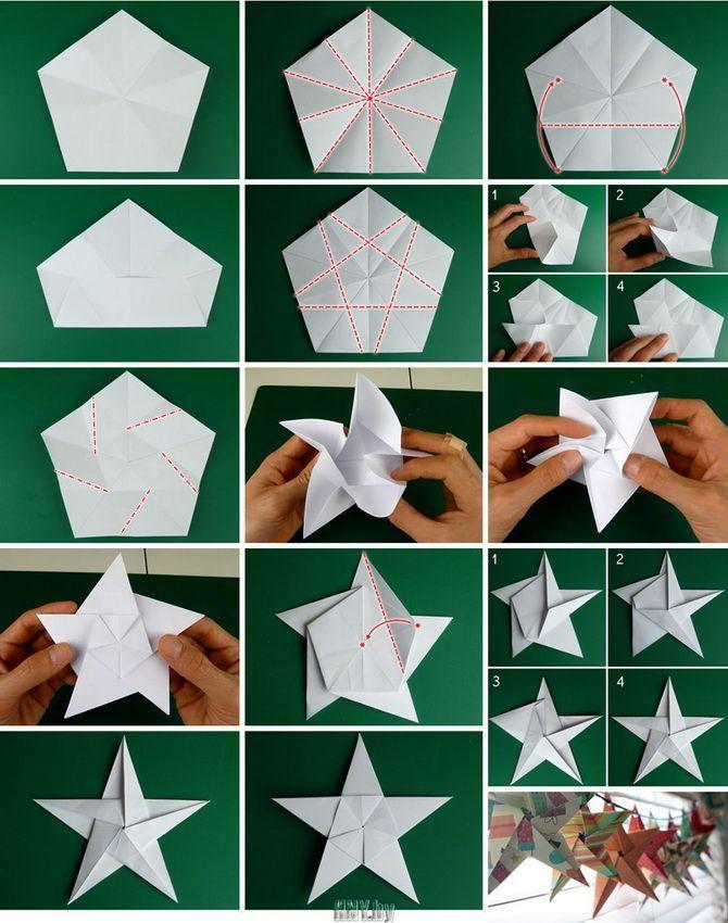 Mainan pokok Krismas yang indah dan luar biasa dari kertas - bagaimana untuk menjadikannya sendiri 21