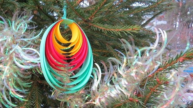 Mainan Krismas yang cantik dan luar biasa dari kertas - bagaimana untuk menjadikannya sendiri 3