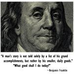 Today I Am Inspired by: Benjamin Franklin