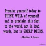 Promise Yourself…