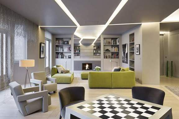Appartement Contemporain Parisien W par Regis BOTTA