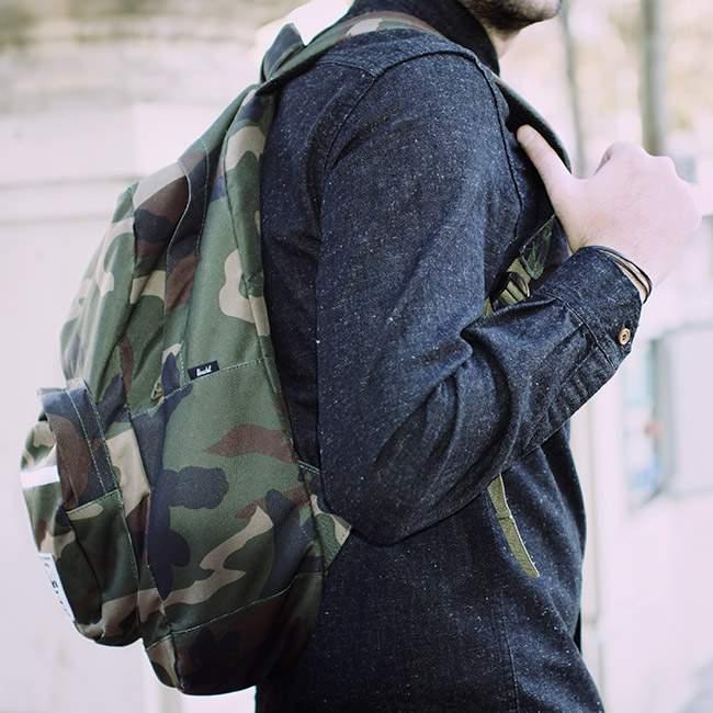 chemise bleu de paname backpack herschel