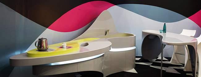 milan design week 2014 - KARIM RASHID HI MACS LG
