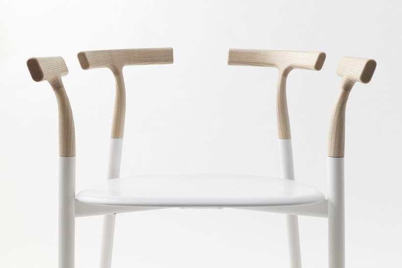Chaise design bois TWIG par ALIAS x NENDO