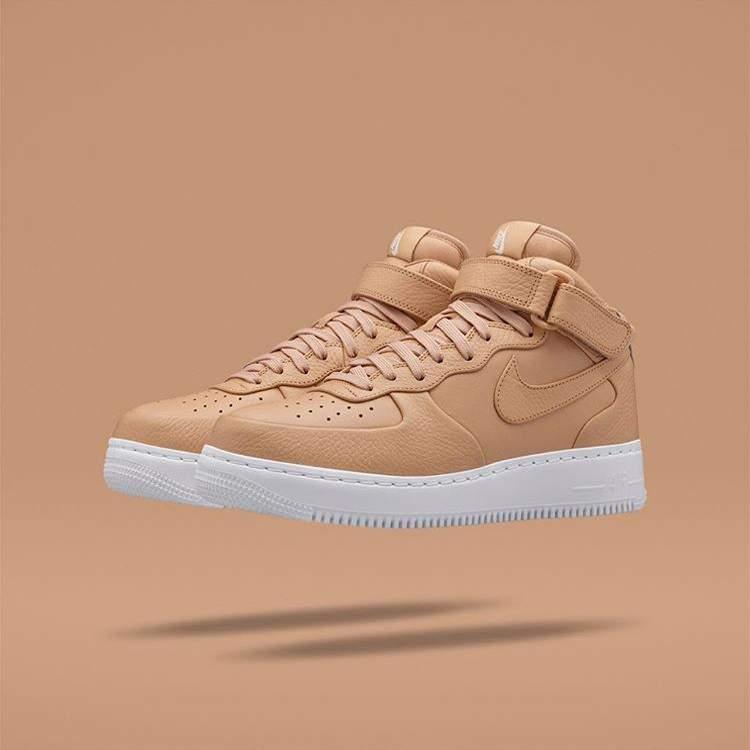 BLOG NikeLab Air Force 1 Mid tan blog sneakers