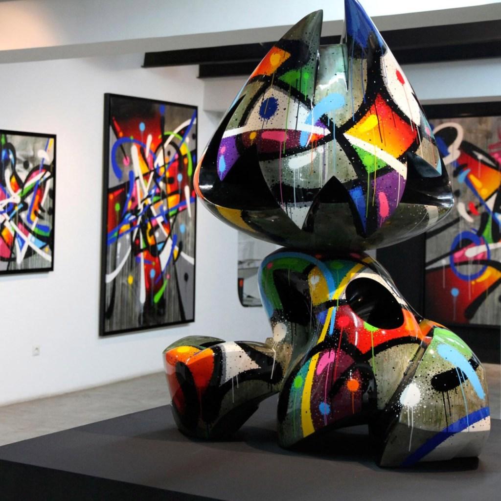 sculpture street art artiste français Mist