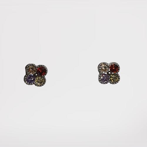 Pendientes multicolor (baño de plata)