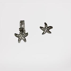 Pendientes estrella (baño de plata)