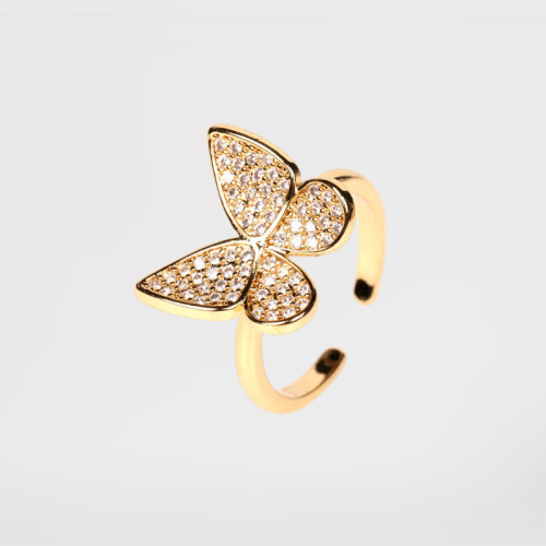 anillo ajustable mariposa